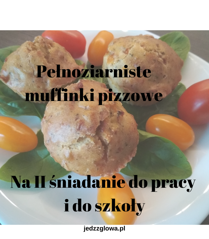 Pełnoziarniste muffinki pizzowe