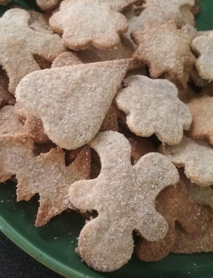 Kruche ciasteczka w świątecznym klimacie