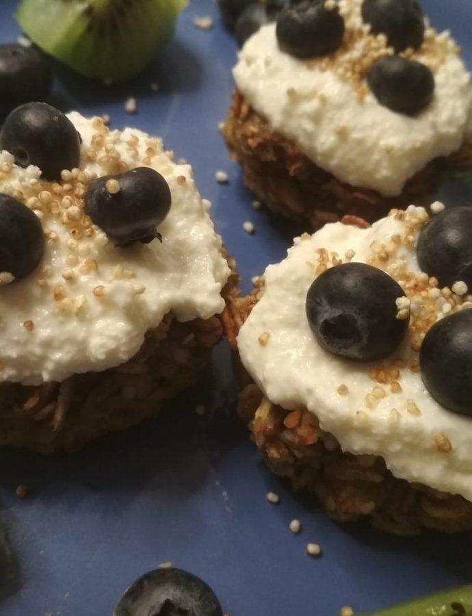 Owsiane ciasteczka z domowym serkiem – pychotka :)