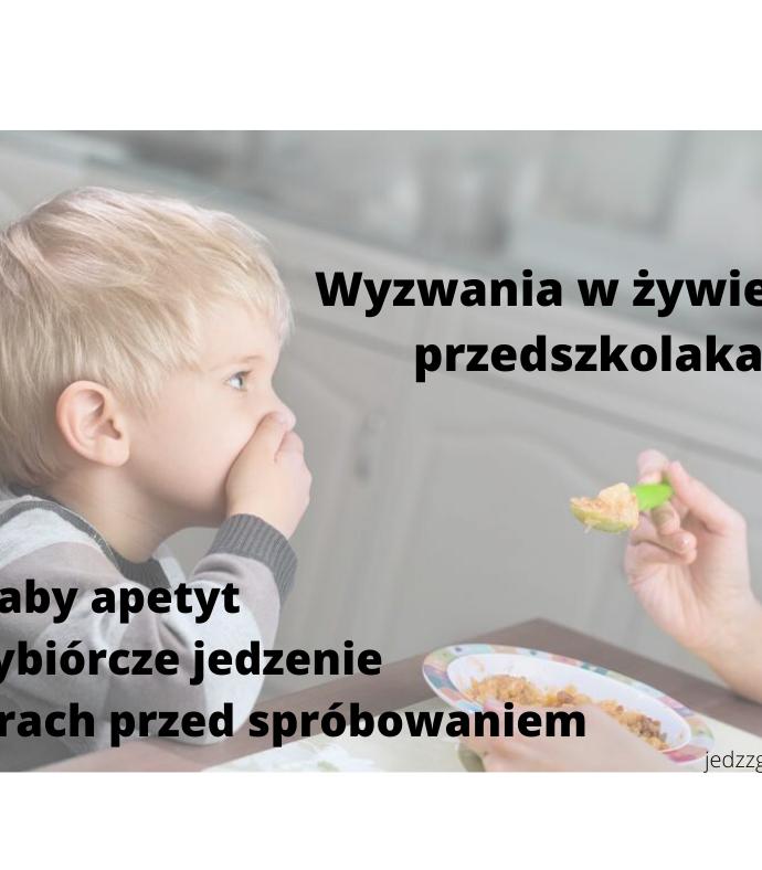 Gdy przedszkolak nie chce jeść- szkolenie dla nauczycieli, ON – LINE